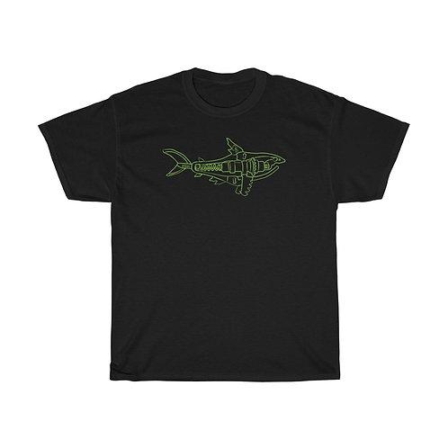 Green Shark Unisex Heavy Cotton Tee