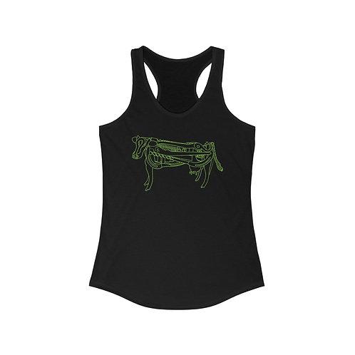 Green Cow Racerback Tank