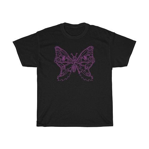 Purple Butterfly Unisex Heavy Cotton Tee