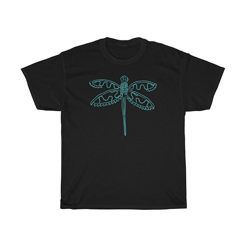 Blue Dragonfly Unisex Heavy Cotton Tee