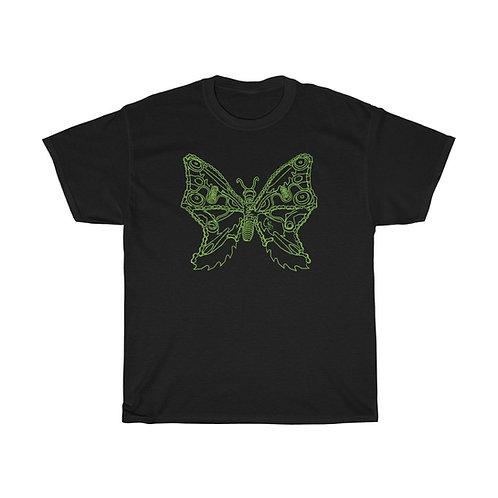 Green Butterfly Unisex Heavy Cotton Tee