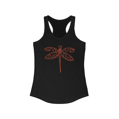 Red Dragonfly Racerback Tank