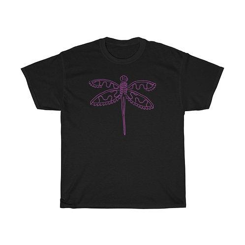 Purple Dragonfly Unisex Heavy Cotton Tee