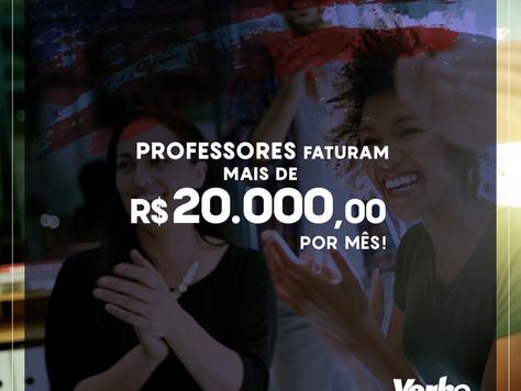 Professores de Inglês faturam mais de R$ 20.000,00 por MÊS
