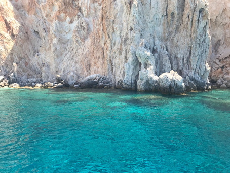 Milos so blue it's almost fake...
