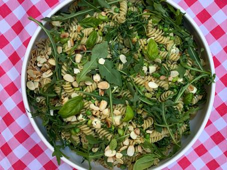 Green with envy Pesto Pasta Salad