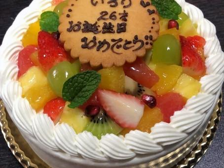 誕生日を祝ってもらいました〜(^^)♪