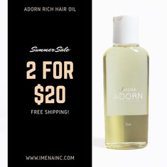 Get our Adorn Rich Hair Oil made with spearmint and lemon peel. These are two great ingredients to help nourish the hair and scalp.jpg