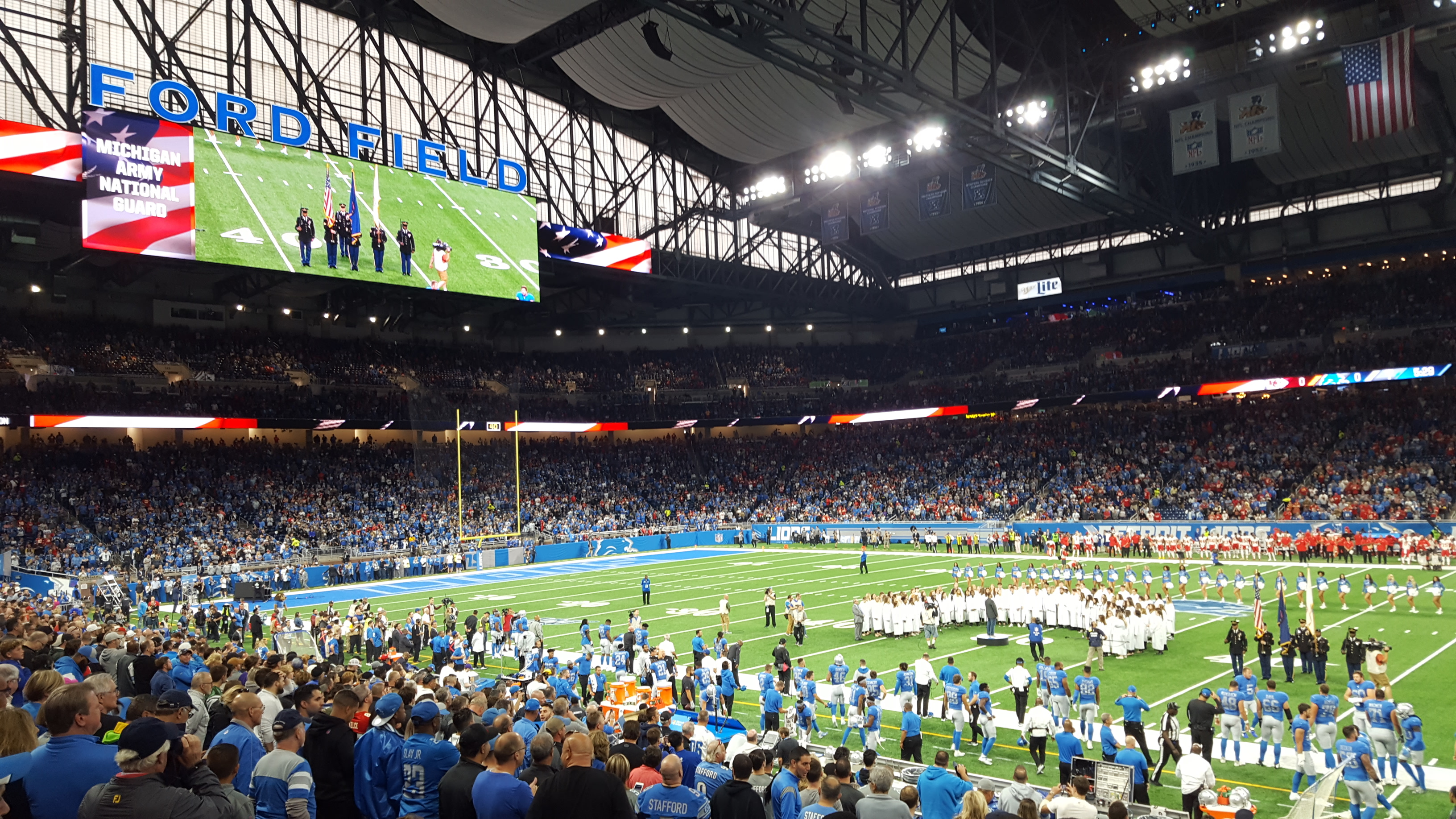 Ford Field Choir Performance