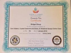 Crystal Exilir Certification