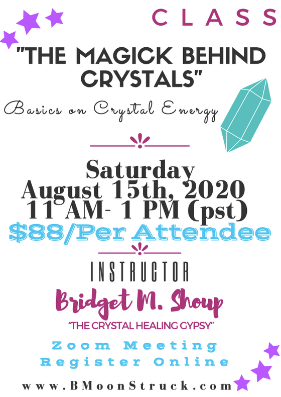"Learn about Crystals  ...""The Magick Behind Crystals"" Online Class!!!"