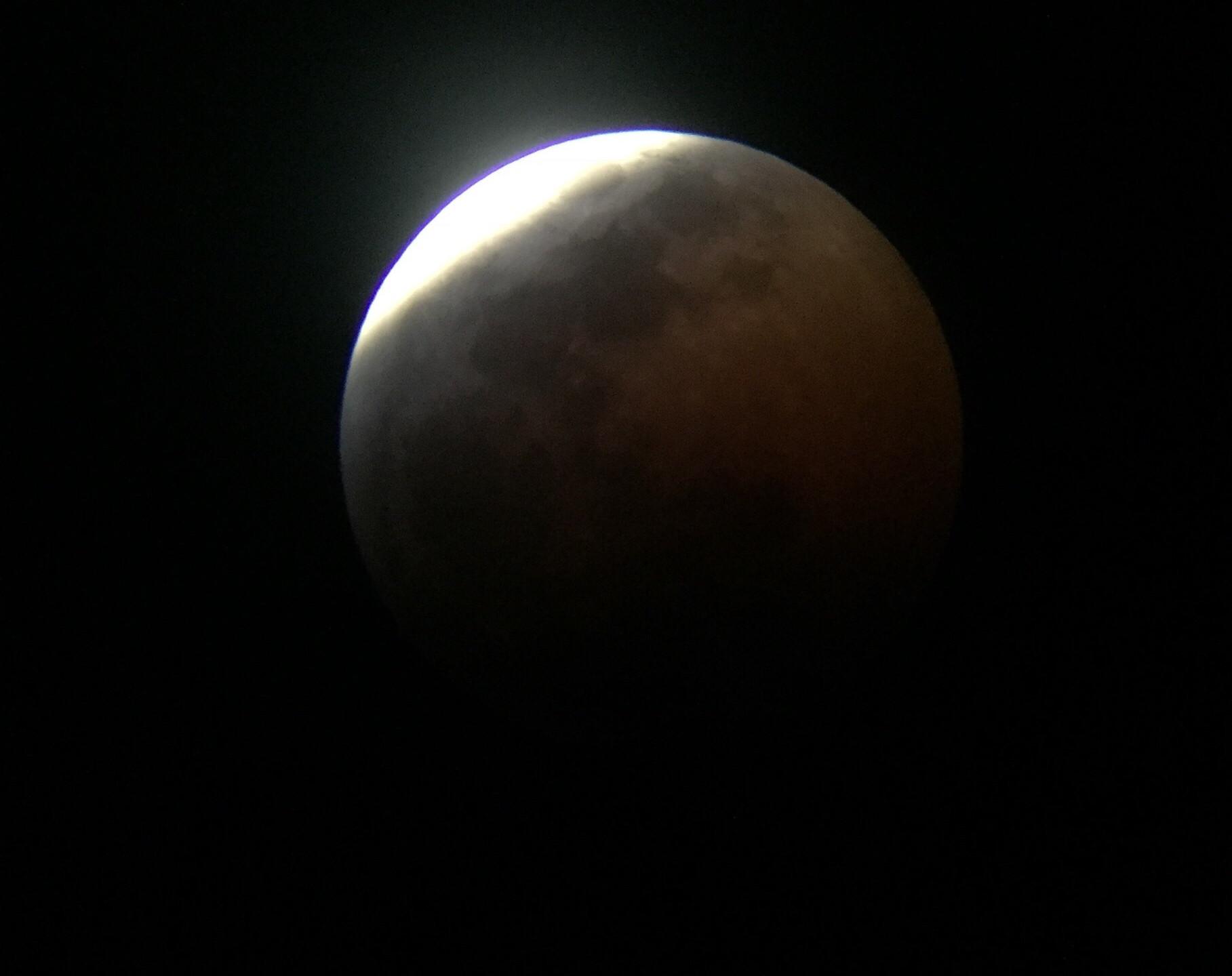 Rancho Cucamonga, CA  Total Lunar Eclipse Process 1/20/19 7 of 9