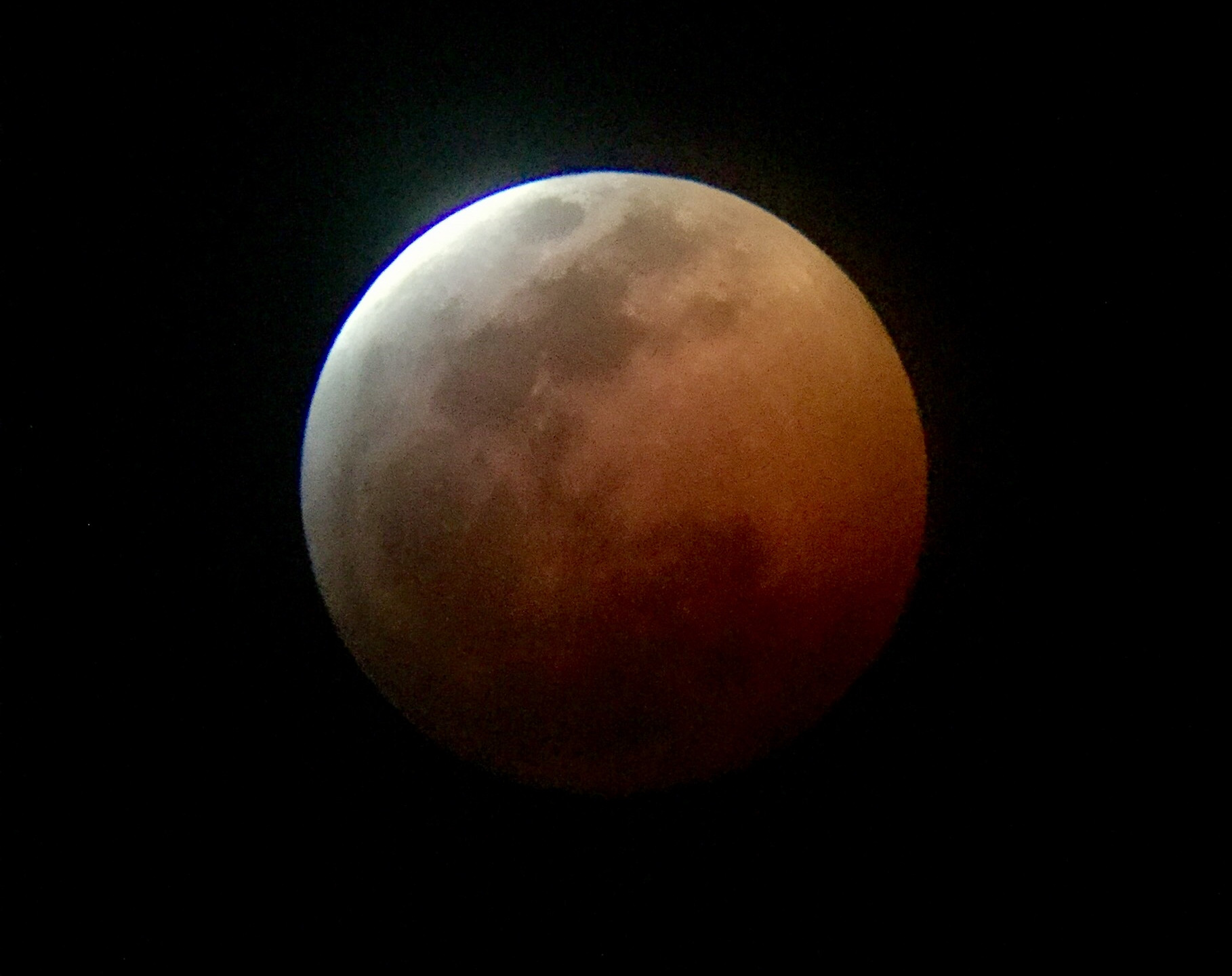 Rancho Cucamonga, CA  Total Lunar Eclipse Process 1/20/19  8 of 9