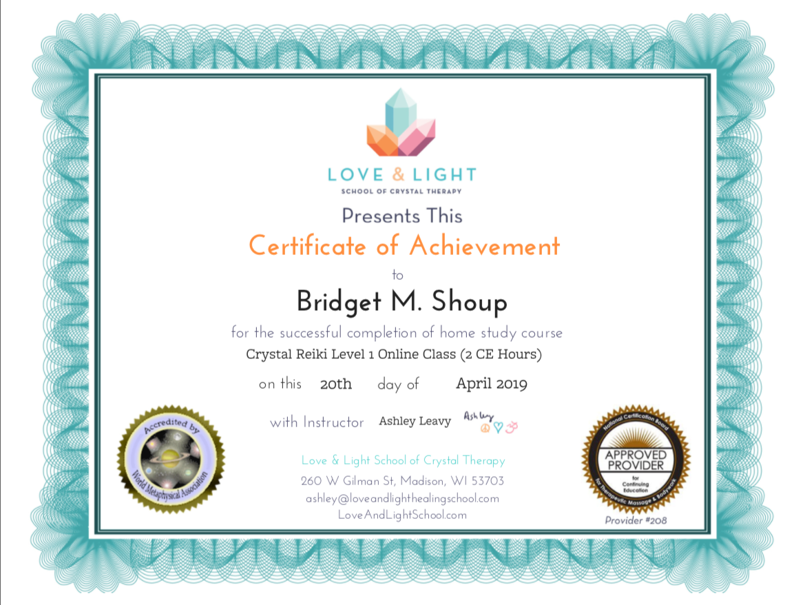 Bridget M. Shoup Crystal Reiki Lv. 1 .pn