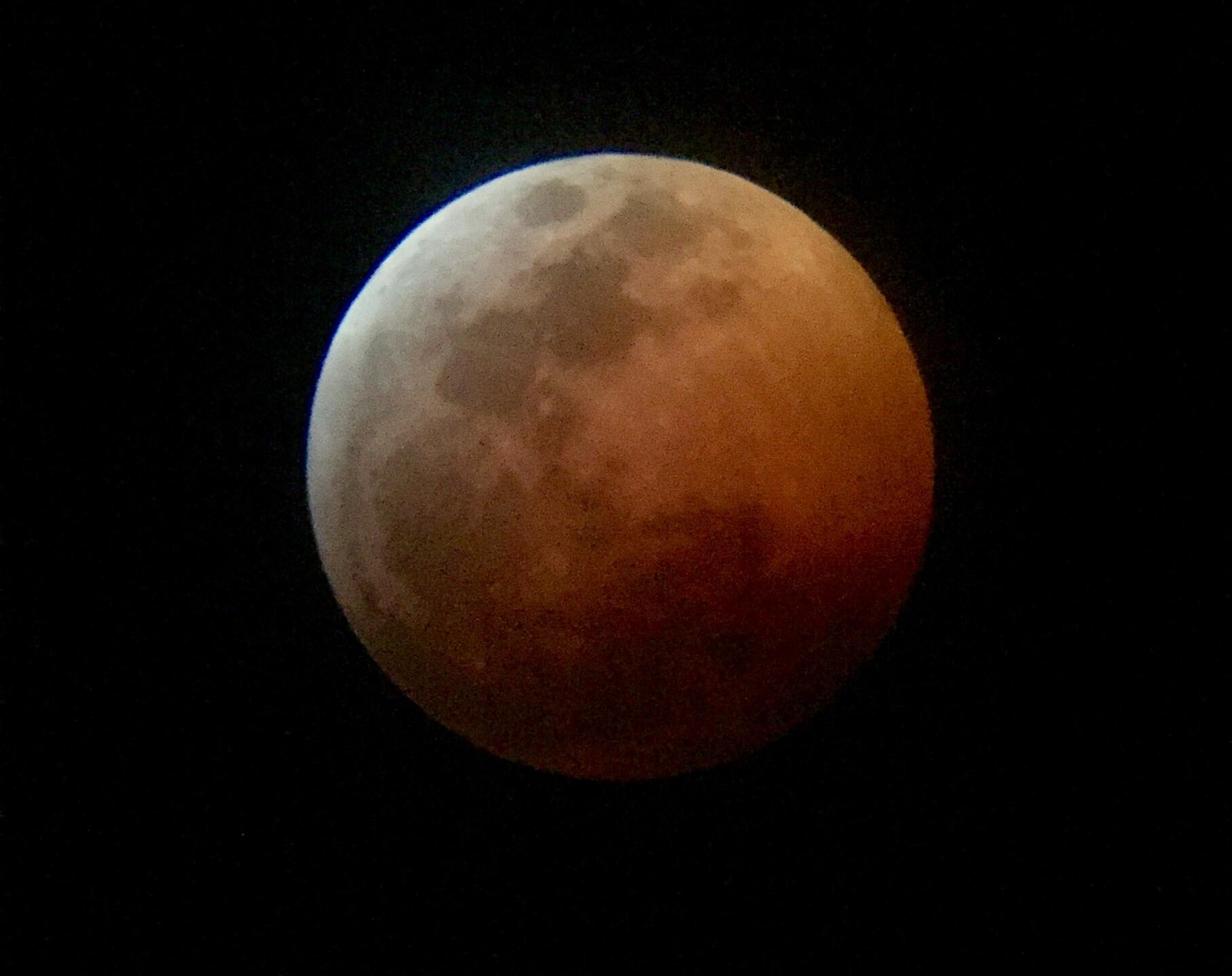 Rancho Cucamonga, CA  Total Lunar Eclipse Process 1/20/19  9 of 9