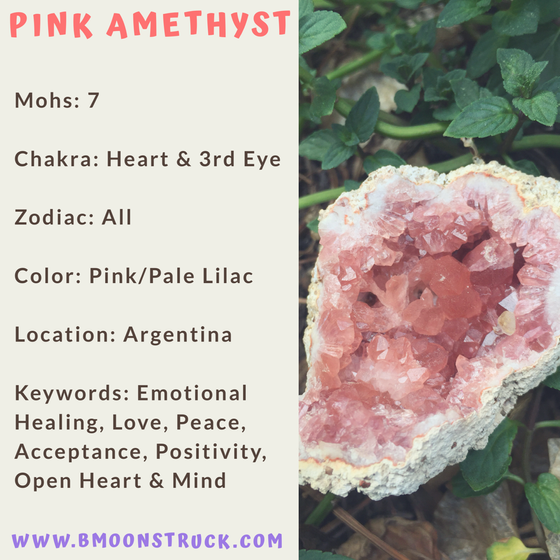 Mineral MoonDay~Pink Amethyst
