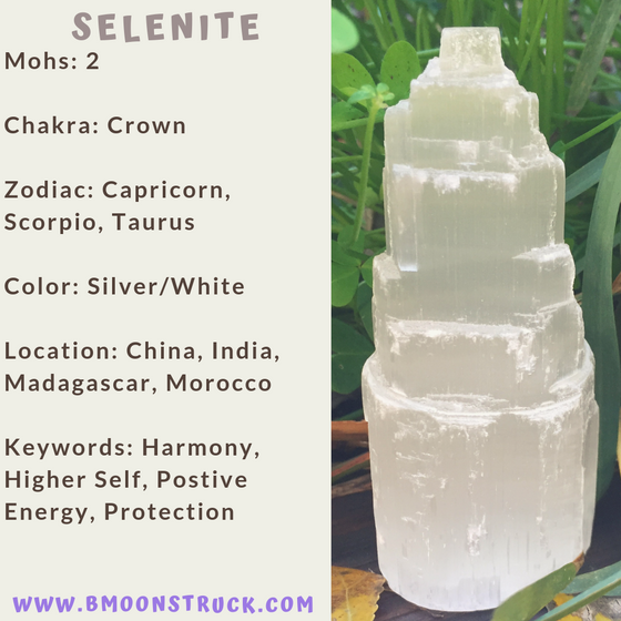 Mineral MoonDay~Selenite
