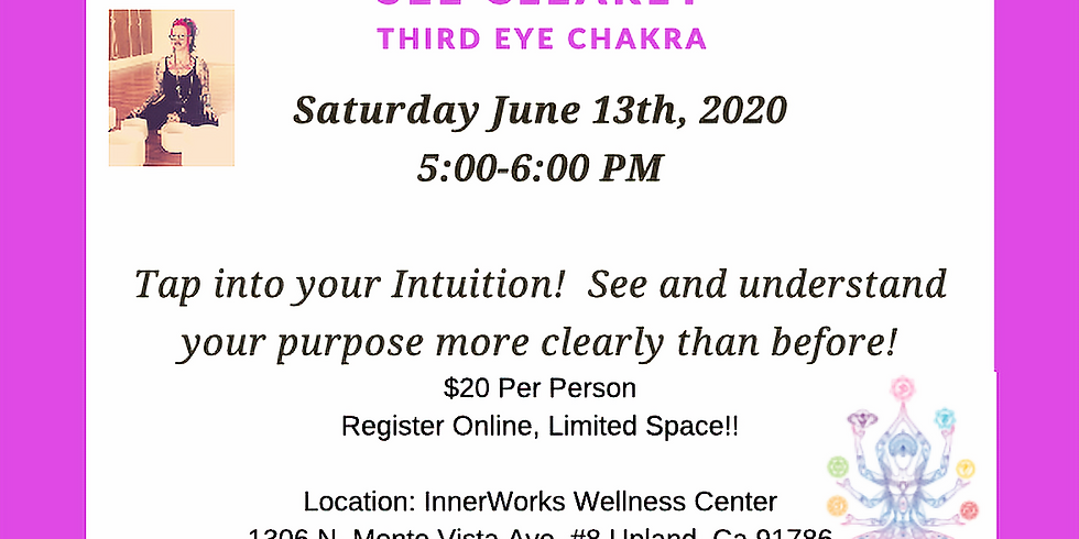 """CHAKRA SERIES: """"See Clearly"""""""