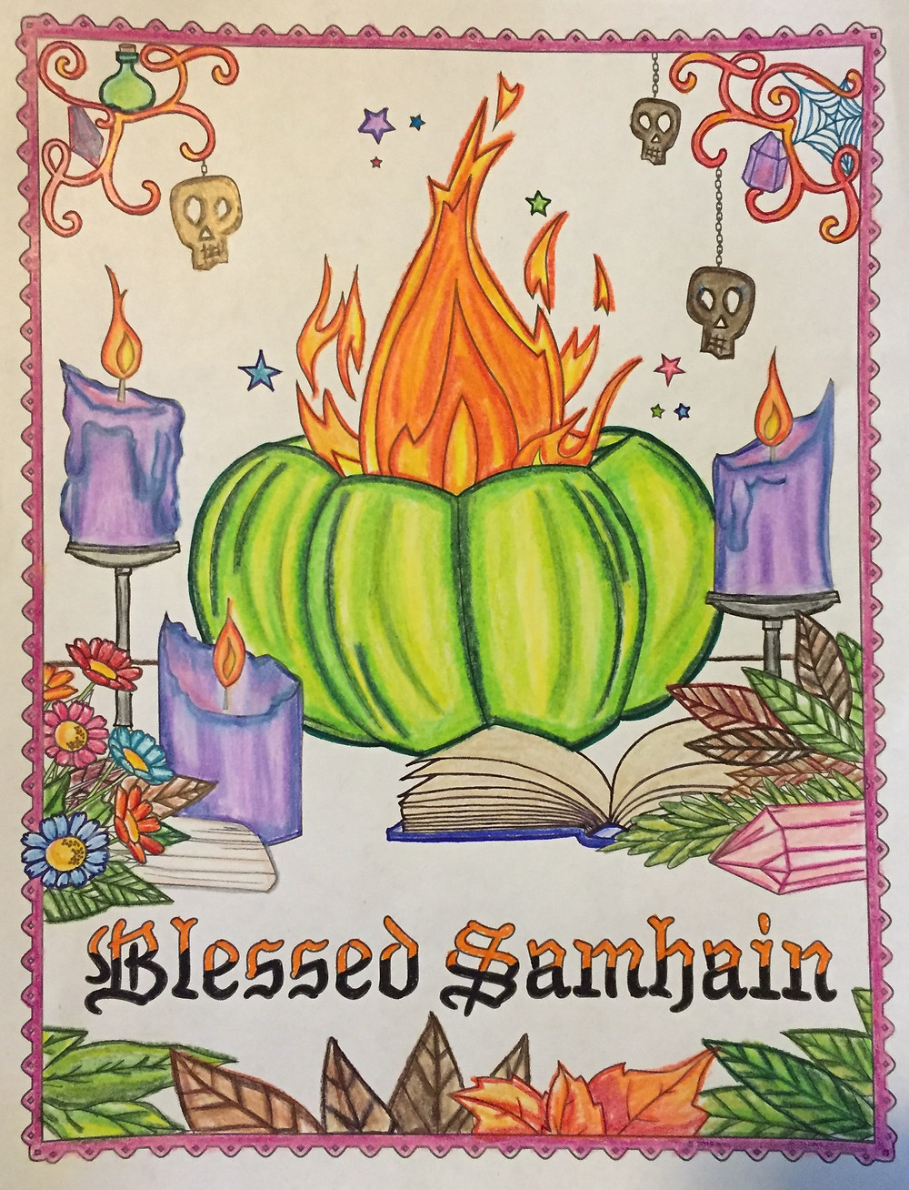 My Samhain Coloring Page 2018