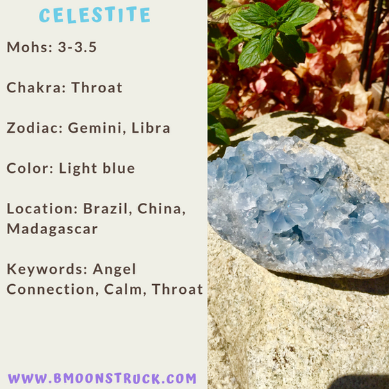 Mineral MoonDay~Celestite