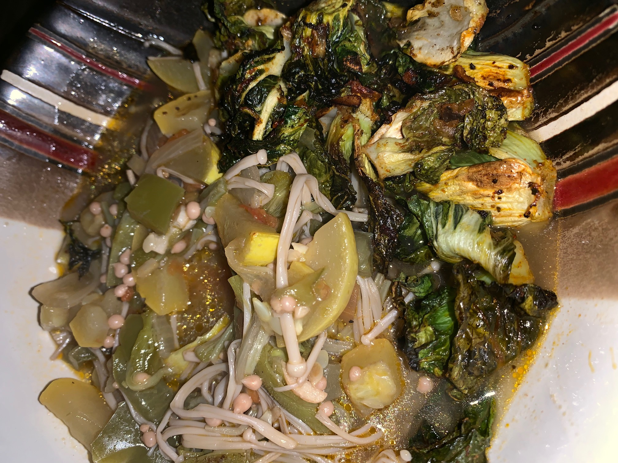 veggie stew with chips