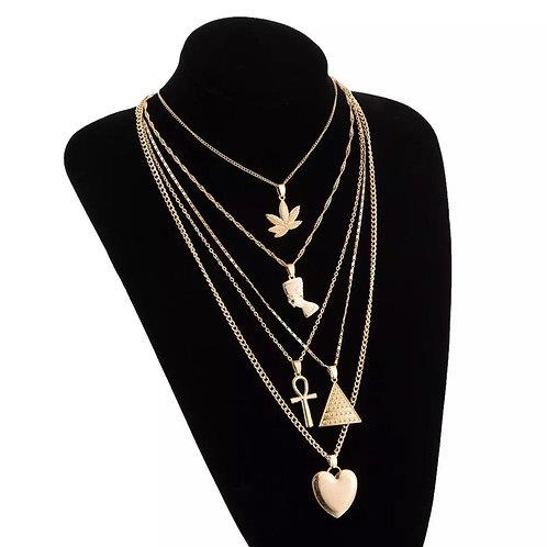 layered goddess necklace