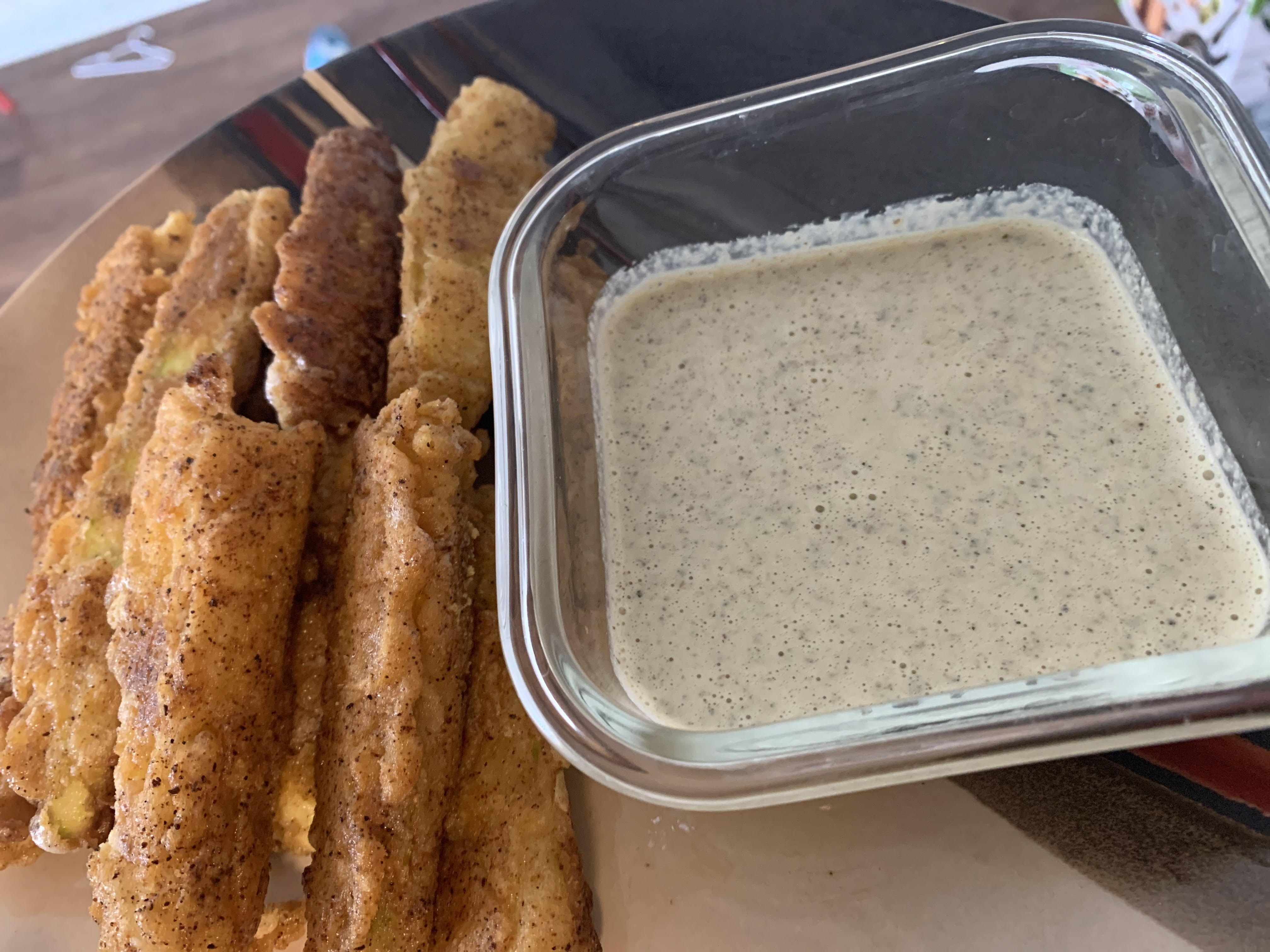 zucchini wedges and ranch