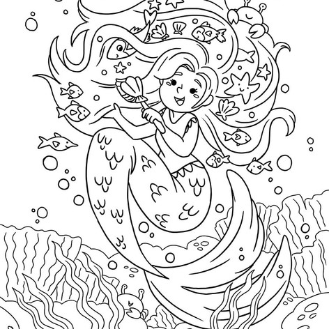 Magical Creatures Colouring Book