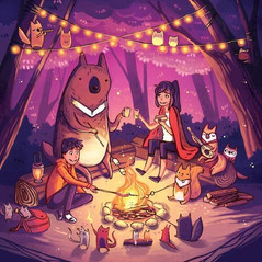 Friends at the Camp Fire
