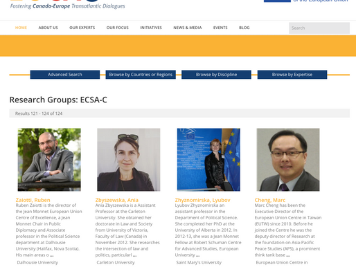 Database of ECSA-C members
