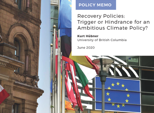 Recovery Policies:  Trigger or Hindrance for an Ambitious Climate Policy?