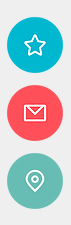 Icons place mark email