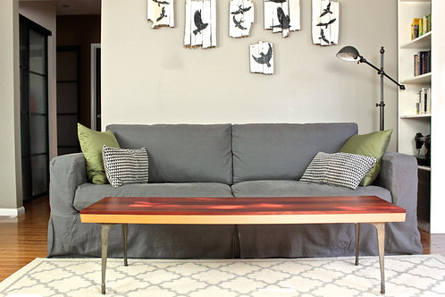 Byline Coffee Table With Cast Iron Legs