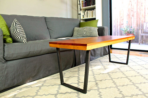 Byline Coffee Table With Steel Legs