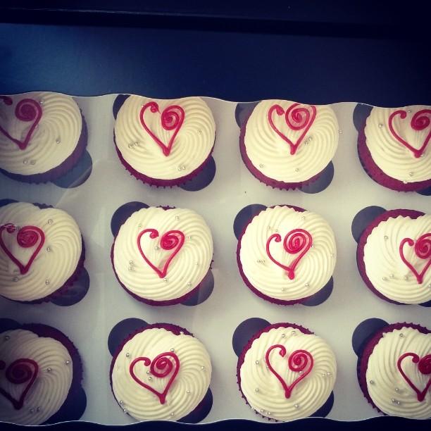 Red Velvet cupcakes for Brush Salon #Valentine'sDay #Love