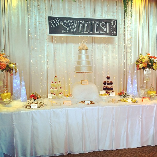 Wedding in Woodinville display #engaged #desserts #weddings