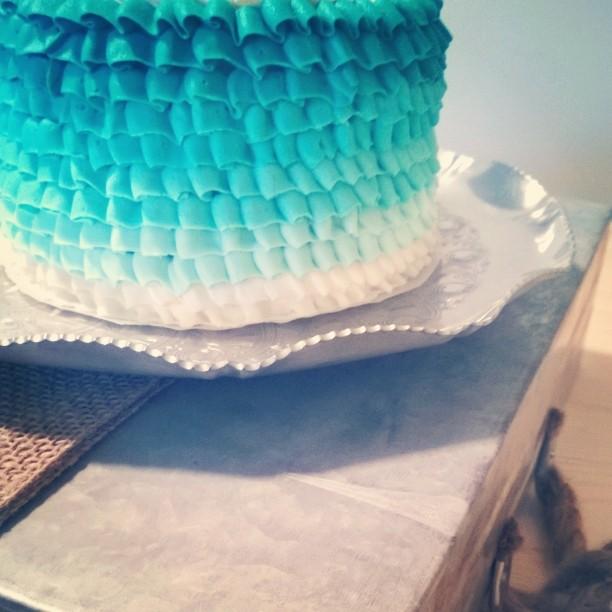 Happy Birthday Bailey #cake #frosting #ombre #heysweetsbuffets