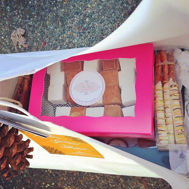 Pumpkin Spice mini cupcakes, Orange Brownie Bites, Cinnamon & Sugar Marshmallows, Vanilla Bean Marsh