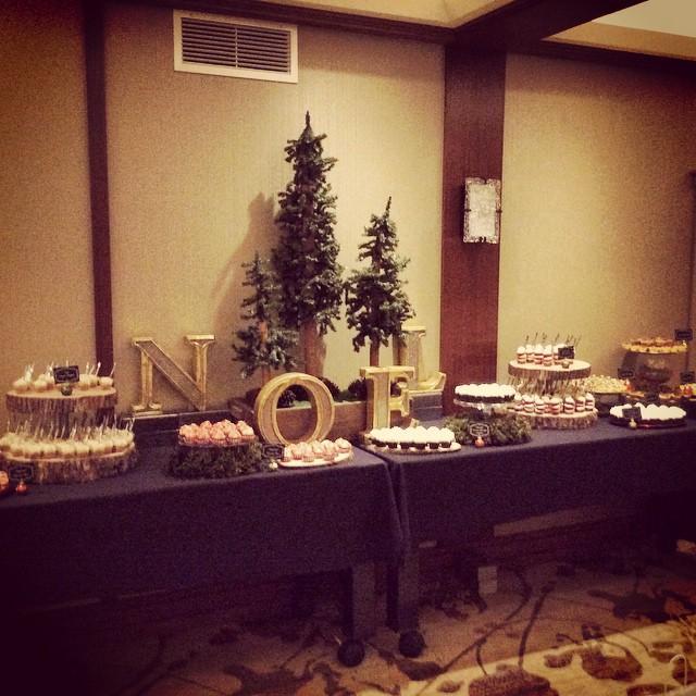 Bayley Construction Holiday Party Dessert Buffet #heysweets #dessert
