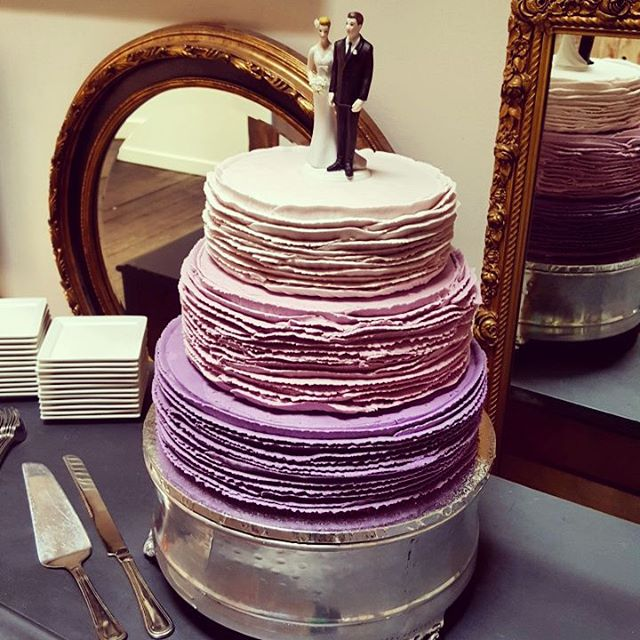 Congrats Justin and Eve! #lavenderombre #withinsodowedding