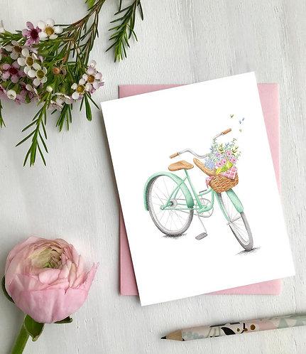 Bicyclette, Carte de souhaits