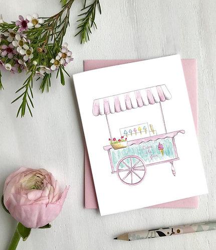 Crème glacée, Cartes de souhaits