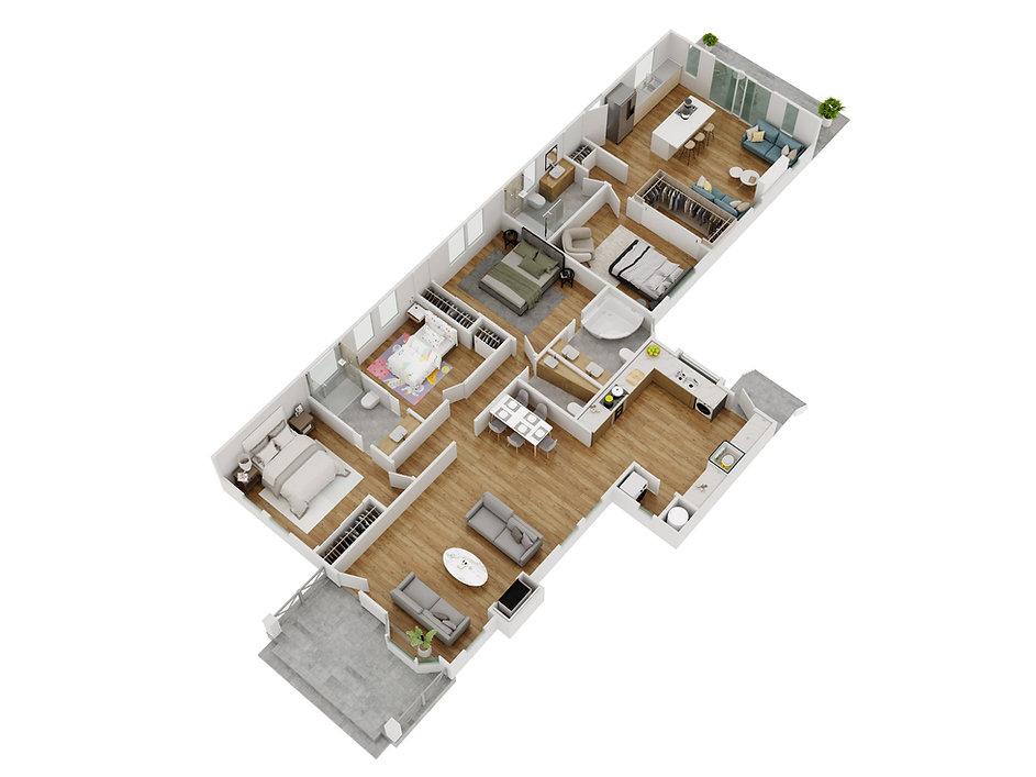 3d floor plan by rummy dechner - la joll