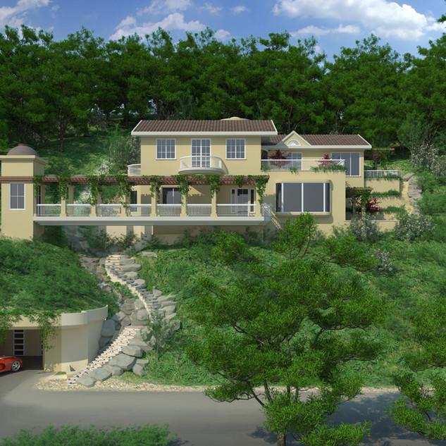 Hill Side Green - Single Green Home Marin County California 2008