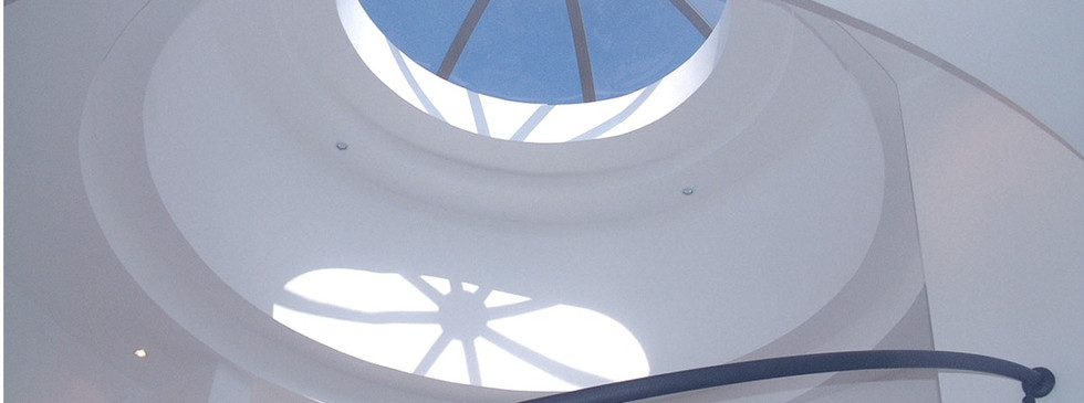 Dome Above Round Stairs-Solomon  Home_ed