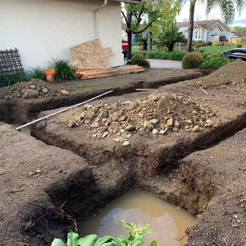 FOUNDATION FOR CAR PORT POWAY DESIGN BY