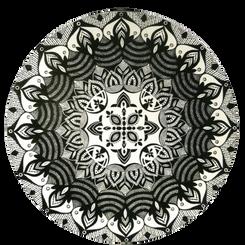 Mandala Renda - P&B