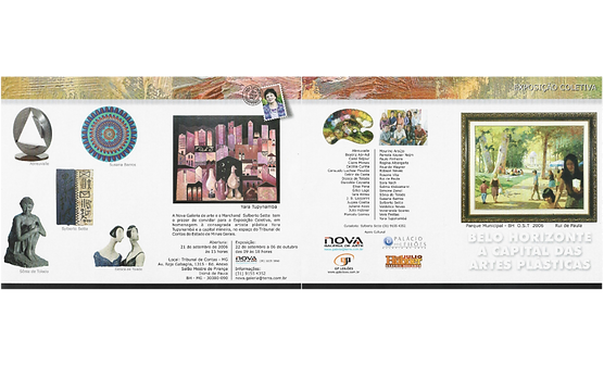 Convite da exposição em homenagem à Yara Tupynambá com participação de Susana Barros