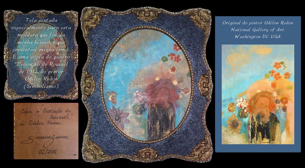 """Cópia do quadro """"Evocação de Roussel"""" de Odilon Redon"""