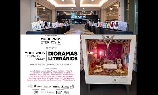Diorama Literário de Susana Barros no evento Modernos Eternos Street 2020.